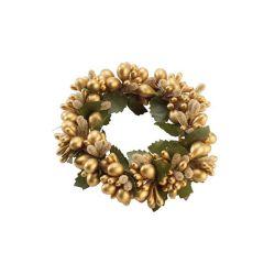 VB- Obrączka na świeczkę złota duża Christmas