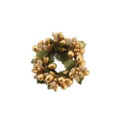 VB- Obrączka na świeczkę złota mała Christmas