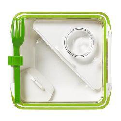 BB - Lunch box BOX APPETIT, zielono-biały