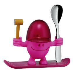 WMF - Kieliszek na jajko z łyżeczką McEgg, różowy