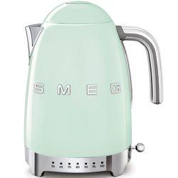SMEG Czajnik elektryczny z regulacją temperatury. pastelowa zieleń