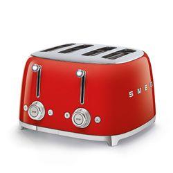 Toster na 4 kromki, czerwony