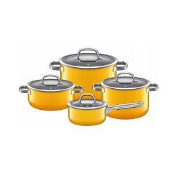 Zestaw 4 garnków żółty Fusiontec Mineral WMF