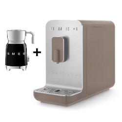 SMEG Automatyczny ekspres do kawy Basic (ciemnobeżowy mat) + GRATIS