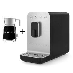 SMEG Automatyczny ekspres do kawy Basic (czarny mat) + GRATIS