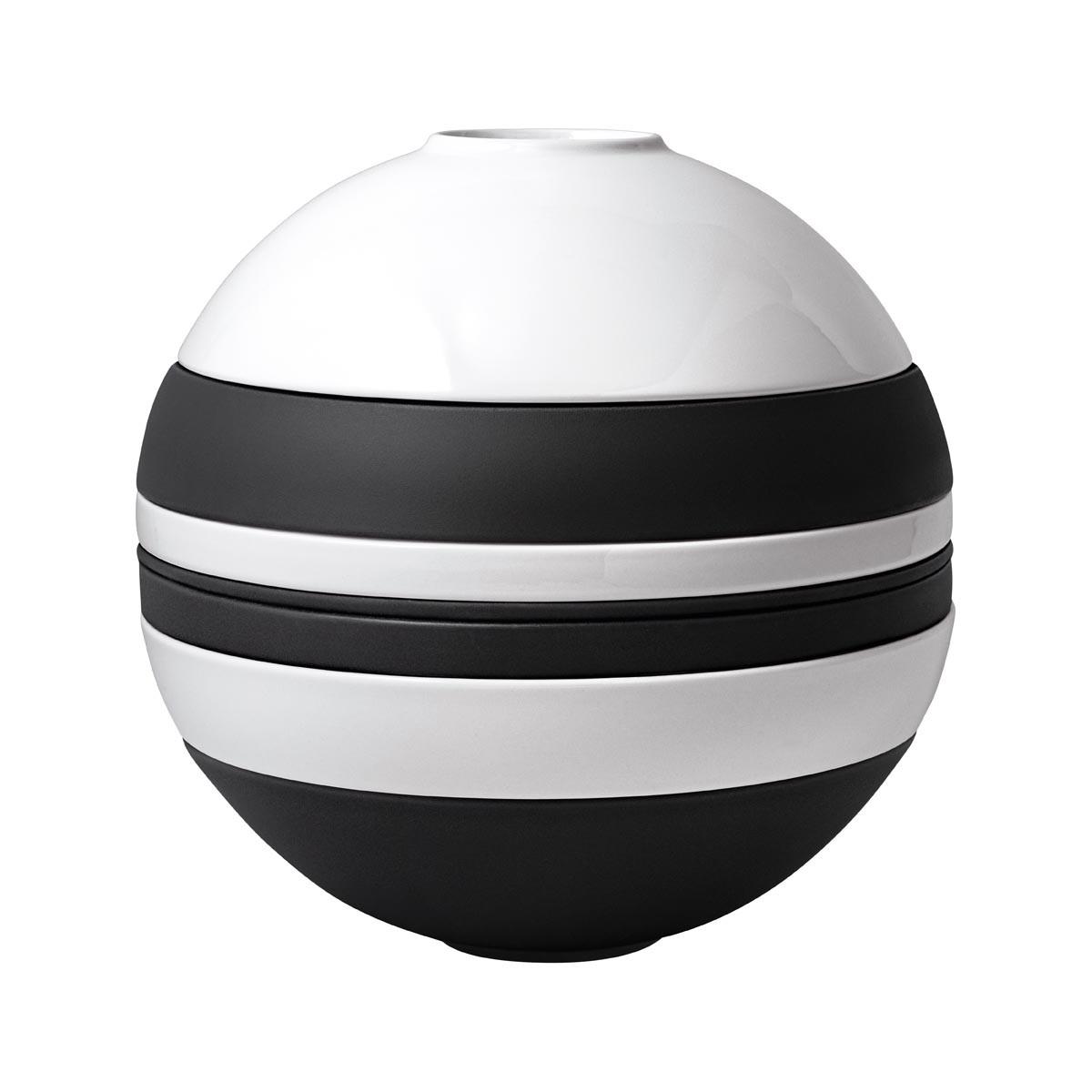 Zastawa 7-el. La Boule Iconic biało-czarna Villeroy & Boch (1)